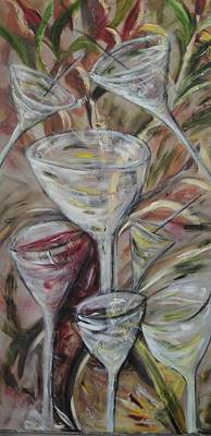 Painting - The Winetoast by Chuck Gebhardt