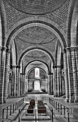 The Tombs At Fontevraud Abbey   France Art Print by Sheila Laurens
