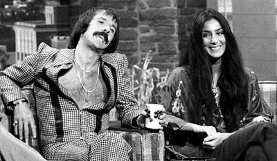 Bono Photograph - The Tonight Show, Sonny & Cher, 1975 by Everett