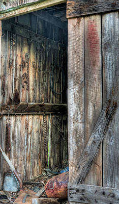 The Tool Shed Art Print by JC Findley