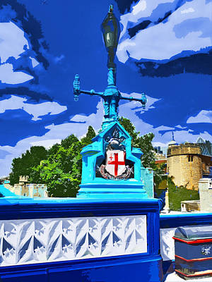 The Tower Lamp Post Art Print by Steve Taylor