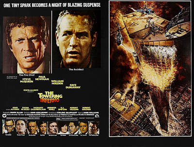 The Towering Inferno, Top Steve Art Print by Everett