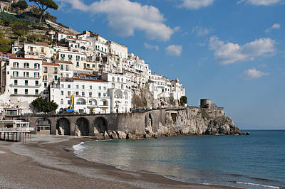 Y120907 Photograph - The Town Of Amalfi by Driendl Group
