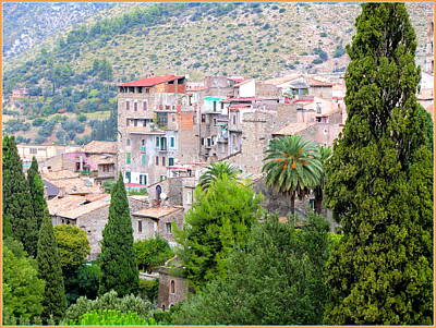 Italian Landscapes Digital Art - The Town Of Tivili by Mindy Newman
