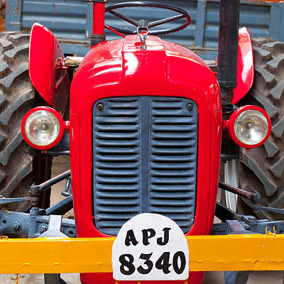 The Tractor Print by Subpong Ittitanakul