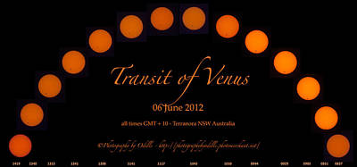 Photograph - The Transit Of Venus From Australia by Odille Esmonde-Morgan