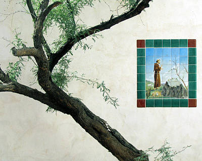 Photograph - The Tree And St. Francis by Judy Wanamaker