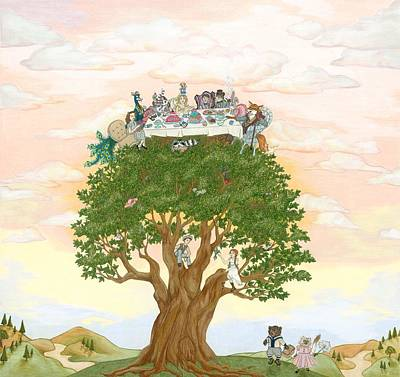 The Tree Party Art Print