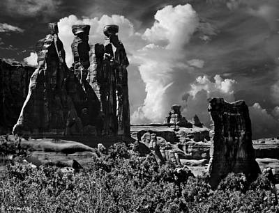 Digital Art - The Tribunal Arches National Park by Bob and Nadine Johnston