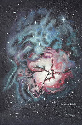 Painting - The Trifid Nebula by Patsy Sharpe