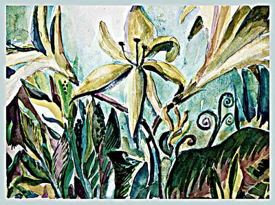 Spring Bulbs Painting - The Triumphant Lilies by Mindy Newman