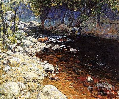 Brook Trout Painting - The Trout Brook by Pg Reproductions