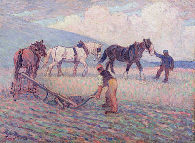 Ploughed Photograph - The Turn - Rice Plough by Robert Polhill Bevan