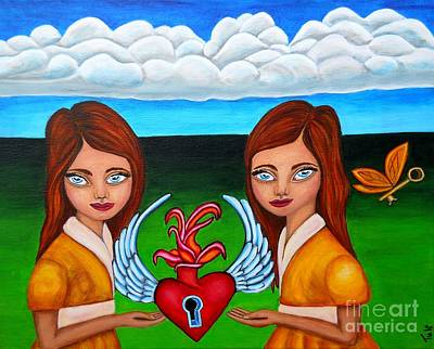 Painting - The Twins by Claudia Tuli