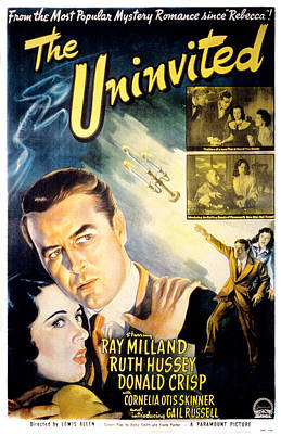 Postv Photograph - The Uninvited, Gail Russell, Ray by Everett