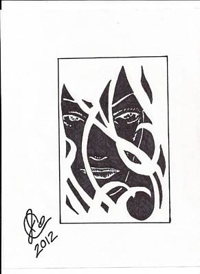 Art Print featuring the drawing The Unkown Woman by Jeremiah Colley