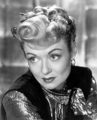 Gold Lame Photograph - The Unsuspected, Constance Bennett, 1947 by Everett