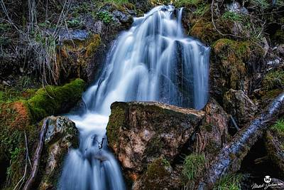 The Upper Butler Fork Falls Art Print by Mitch Johanson