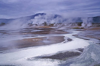 Mudpot Photograph - The Uzon Caldera Steams In Places Where by Michael Melford