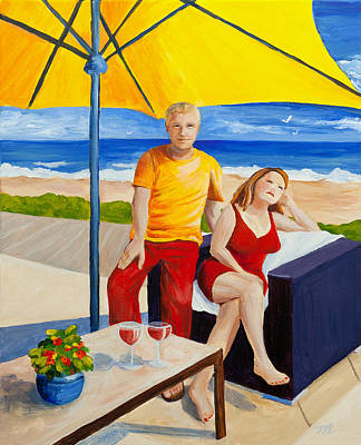 Painting - The Vacationers by Michelle Wiarda