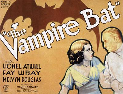 Horror Fantasy Movies Photograph - The Vampire Bat, Fay Wray, Lionel by Everett