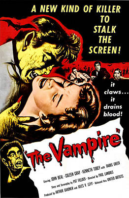 The Vampire, John Beal, Coleen Gray Art Print by Everett
