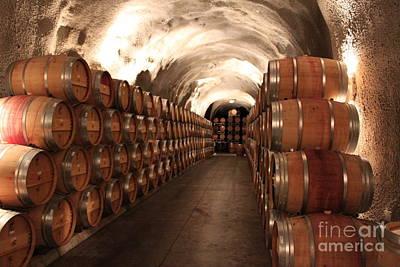 Wine Barrel Mixed Media - The Vat by Lauri Serene