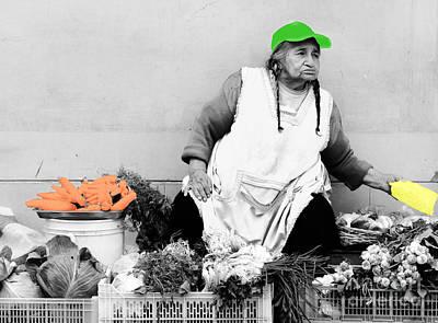 The Vegetable Department Art Print