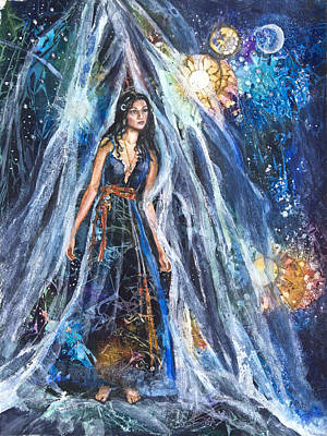 The Veil Is Parted The Three Fates II Original by Patricia Allingham Carlson