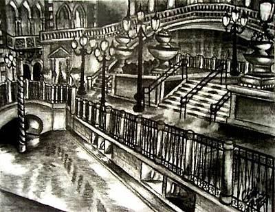 Drawing - The Venetian  by Elizabeth Marks