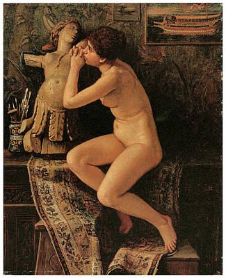 The Venetian Model Art Print by Elihu Vedder