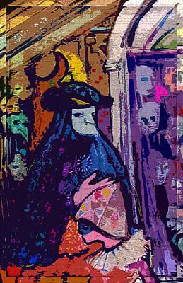 Sly Digital Art - The Venetians by Mindy Newman