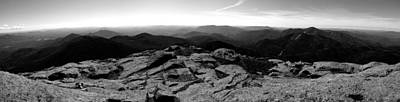 Photograph - The View North From Mount Marcy Black And White Four by Joshua House