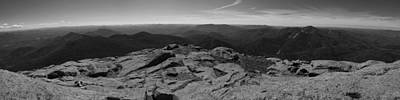 Photograph - The View North From Mount Marcy Black And White One by Joshua House