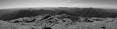 Photograph - The View North From Mount Marcy Black And White Two by Joshua House
