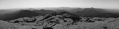 The View North From Mt. Marcy Black And White Three Art Print