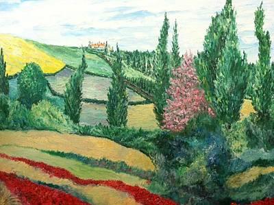 Robert Schmidt Painting - The Villa by Robert Schmidt