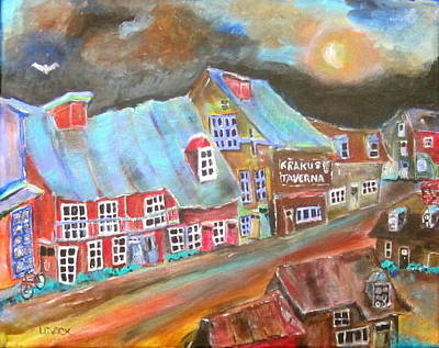 Litvack Painting - The Village by Michael Litvack