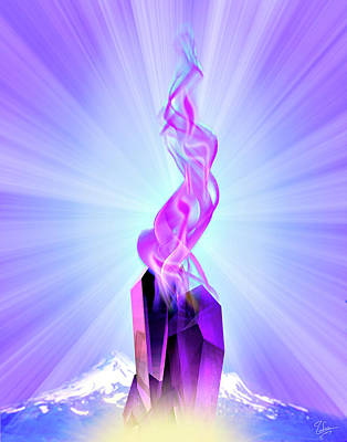 Digital Art - The Violet Flame by Endre Balogh
