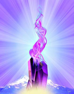 Digital Art - The Violet Flame by Endre Balogh