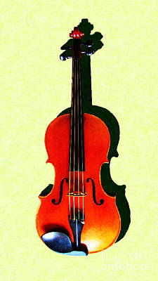 Photograph - The Violin . Light Version . Painterly by Wingsdomain Art and Photography