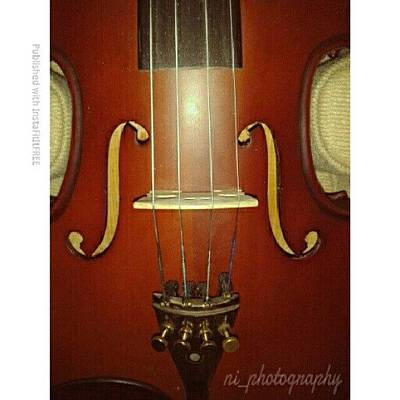 Violin Wall Art - Photograph - The Violin by Nadiyah Ishak