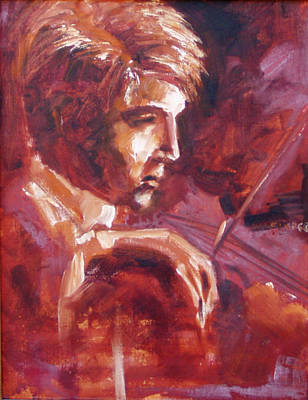 Painting - The Violinist by Walter Fahmy