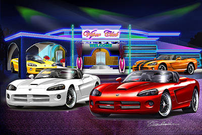 Viper Mixed Media - Dodge Viper Club Revisited  by Danny Whitfield