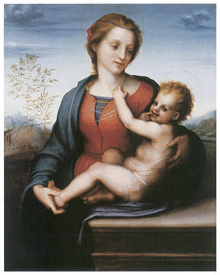 Sarto Painting - The Virgin And Child by Andrea Del Sarto