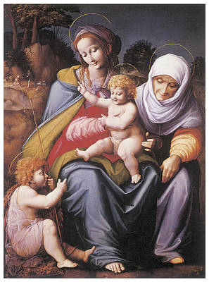 The Virgin And Child Art Print by Bachiacca