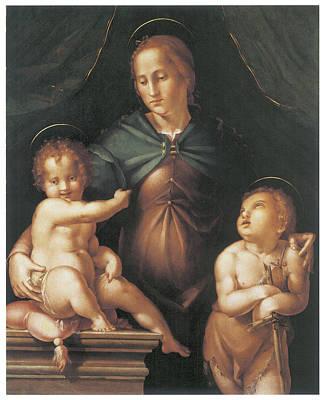The Virgin And Child  Print by Pier Francesco Foschi