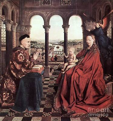 The Virgin Of Chancellor Rolin Print by Pg Reproductions