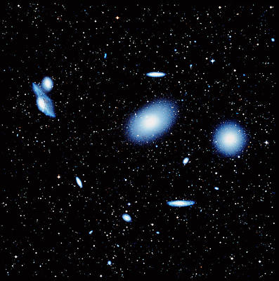 Virgo Photograph - The Virgo Cluster Of Galaxies by Celestial Image Co.