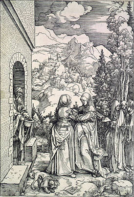 The Visitation, The Virgin And St Art Print